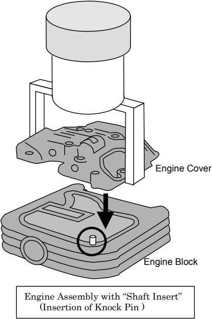 "Engine Cover Engine Block Engine Assembly with ""Shaft Insert"" (Insertion of Knock Pin )"
