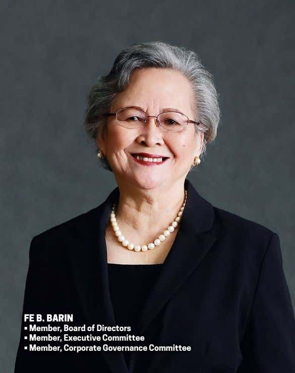 Fe b. barin • Member, Board of Directors • Member, Executive Committee • Member, Corporate
