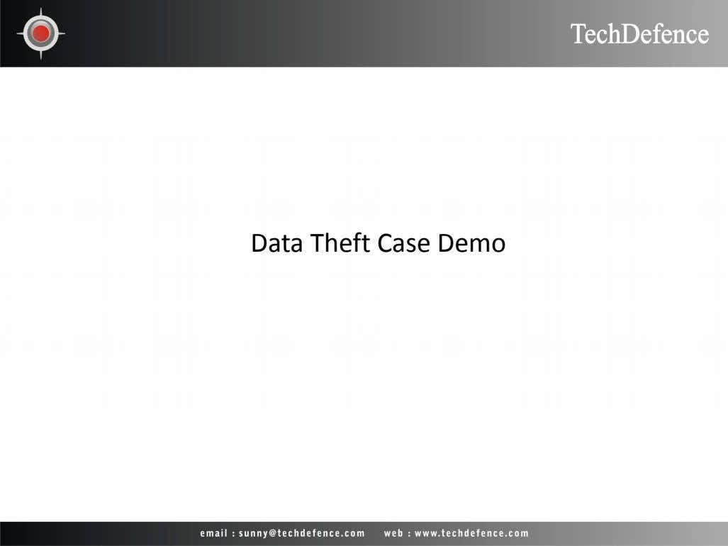 Data Theft Case Demo