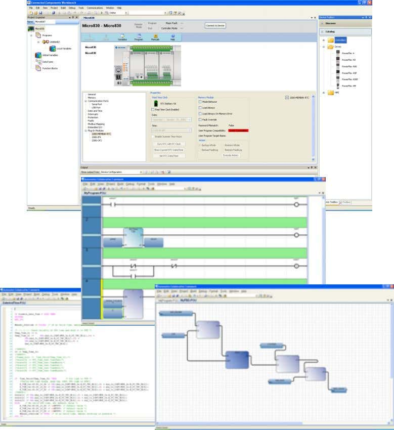 RAS2 Connected Components Workbench Controller Software • Graphical Micro800 controller configuration • IEC 61131-3