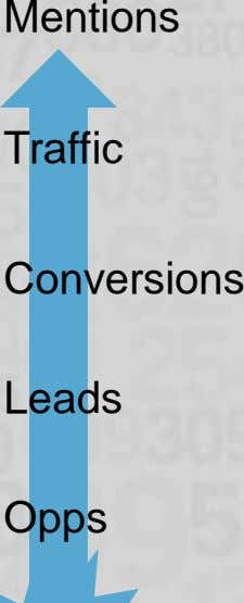 Mentions Traffic Conversions Leads Opps