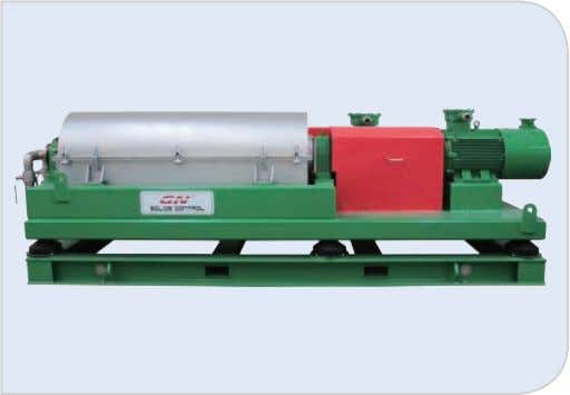 treatment, chemical industry and food indus- try separation. Model GNLW553 C -VFD GNLW554D-VFD Bowl Diameter