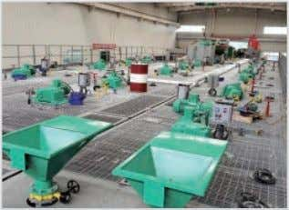 Workshop Company Profil Ball Blasting Machine Welding Workshop Powder Coating Production Line System Assembly Workshop