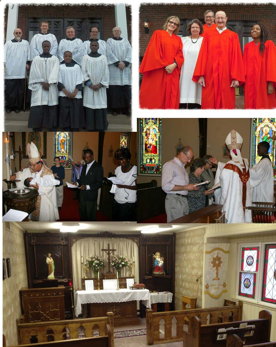 Clockwise; St. James Holy Catholic Church Anglican Rite' s Lay Readers and Altar Servers, Choir