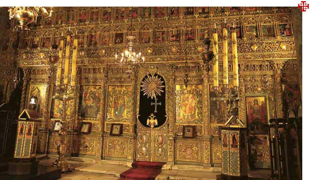 was tied to and flogged on the eve of His crucifixion (left)is preserved in this