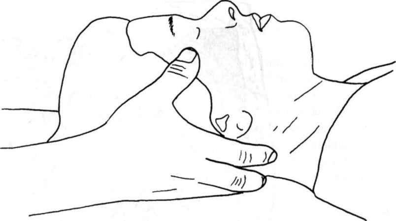 Cranial Adjusting Figure 36: Sphenoid lift After you have palpated the range of motion (mobility and