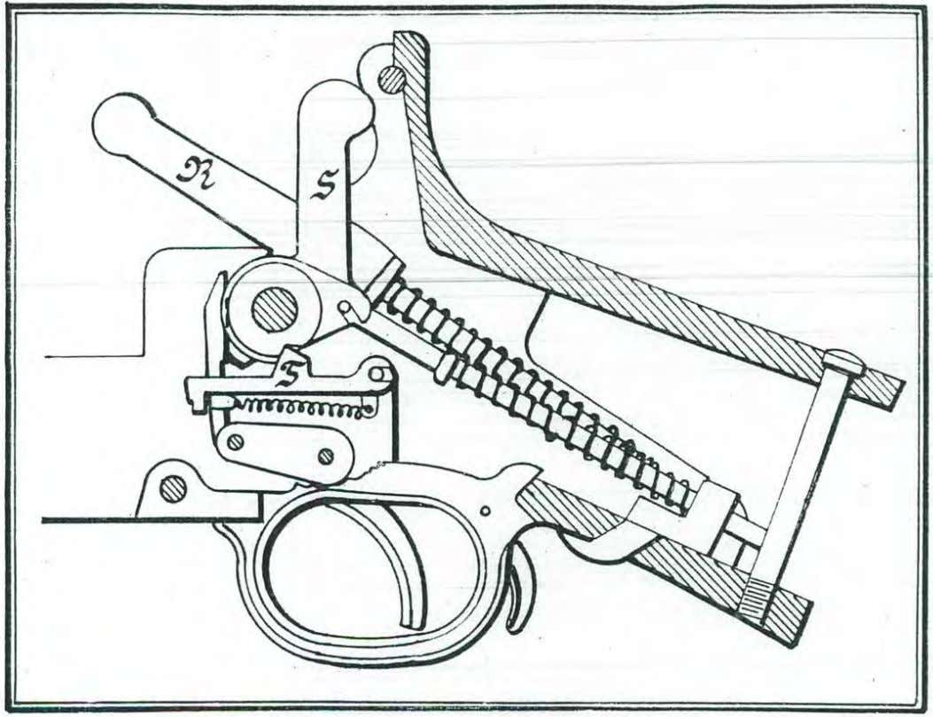 The above c1ruvdng shows the component parts of the trigger- mechanism the moment the