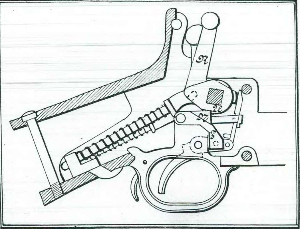 Model 1912 .   The drawing shows the alteration, the trigger-mech~nism being provided with a
