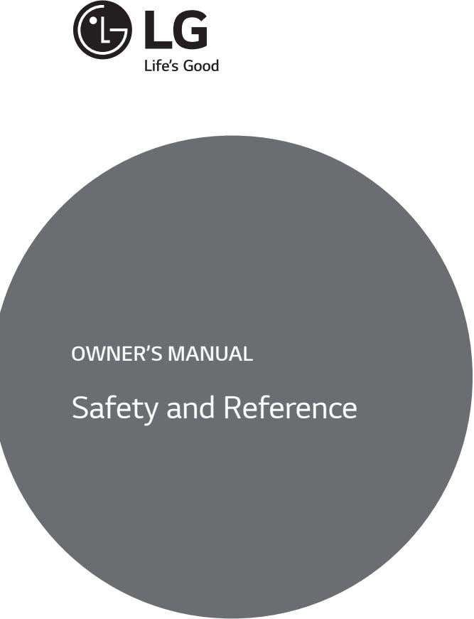 OWNER'S MANUAL Safety and Reference