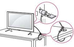 system or visit http://www. kensington.com . Connect the Kensington security system cable between the TV and