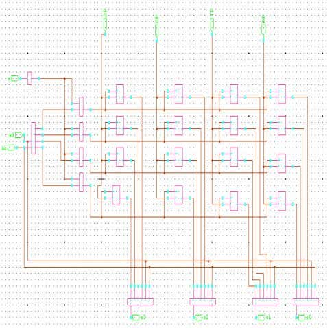 satisfying the proposed algorithm and capacity constraint Fig.4 (a) 4x4 SRAM design using Single-Bit FF. Fig.4
