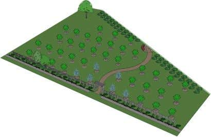 "and spiritual bond with their natural environment"". View showing the orchard layout; prepared by Brooklyn Centre"