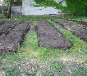 • A simple solution for building a garden on a lot with buried debris or