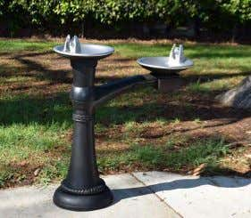 Park Lighting Accessible Drinking Fountain Bottle Filler FORT GREENE PARK | PWB - Site Furnishings Permanent