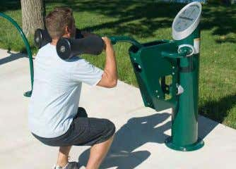 Adult Fitness Equipment Tables and Chairs FORT GREENE PARK | PWB - Site Furnishings Belgian