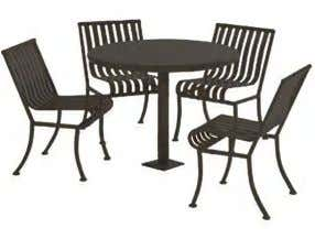 Adult Fitness Equipment Tables and Chairs FORT GREENE PARK | PWB - Site Furnishings Belgian Block