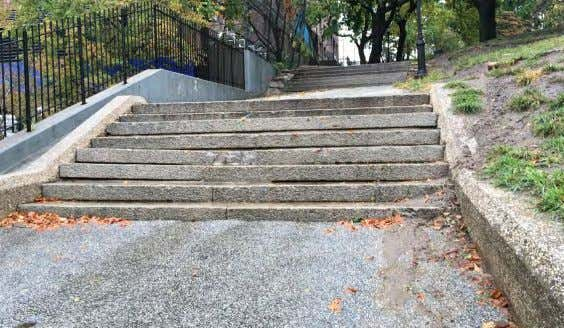 1 - WILLOUGHBY STREET STAIRS - DISREPAIR 2 - CONDITION OF D e KALB STAIRS