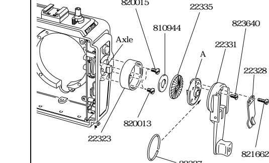 820046 810928 13320 814707 21081-1 13322 Fig. 15 Place the inner part of the crank (A)