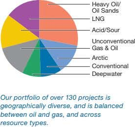 Heavy Oil/ Oil Sands LNG Acid/Sour Unconventional Gas & Oil Arctic Conventional Deepwater Our portfolio