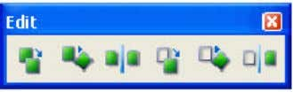 The Edit toolbar contains commands for copying and moving. Copy and translate Copy and rotate Copy