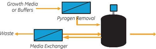 Growth Media or Buffers Pyrogen Removal Waste Media Exchanger