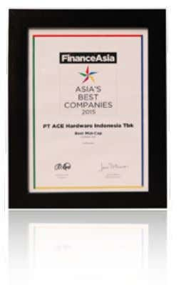 ASIA'S BEST COMPANY 2015 SERVICE QUALITY AWARD BEST OF THE BEST AWARD 2015 Laporan Tahunan Annual