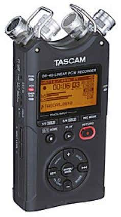 Division - TEAC Europe GmbH DR-40 Linear PCM/MP3 Recorder The Tascam DR-40 packs four-track recording, adjustable