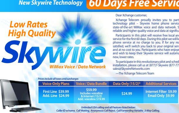 New Skywire Technology