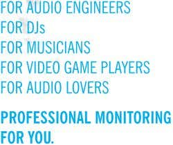 FOR AUDIO ENGINEERS FOR DJs FOR MUSICIANS FOR VIDEO GAME PLAYERS FOR AUDIO LOVERS PROFESSIONAL