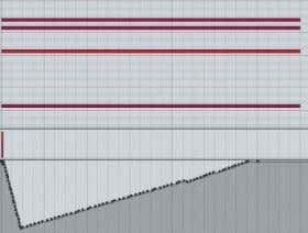 the curve affects only the very beginning of each note. 04 For the last chord a