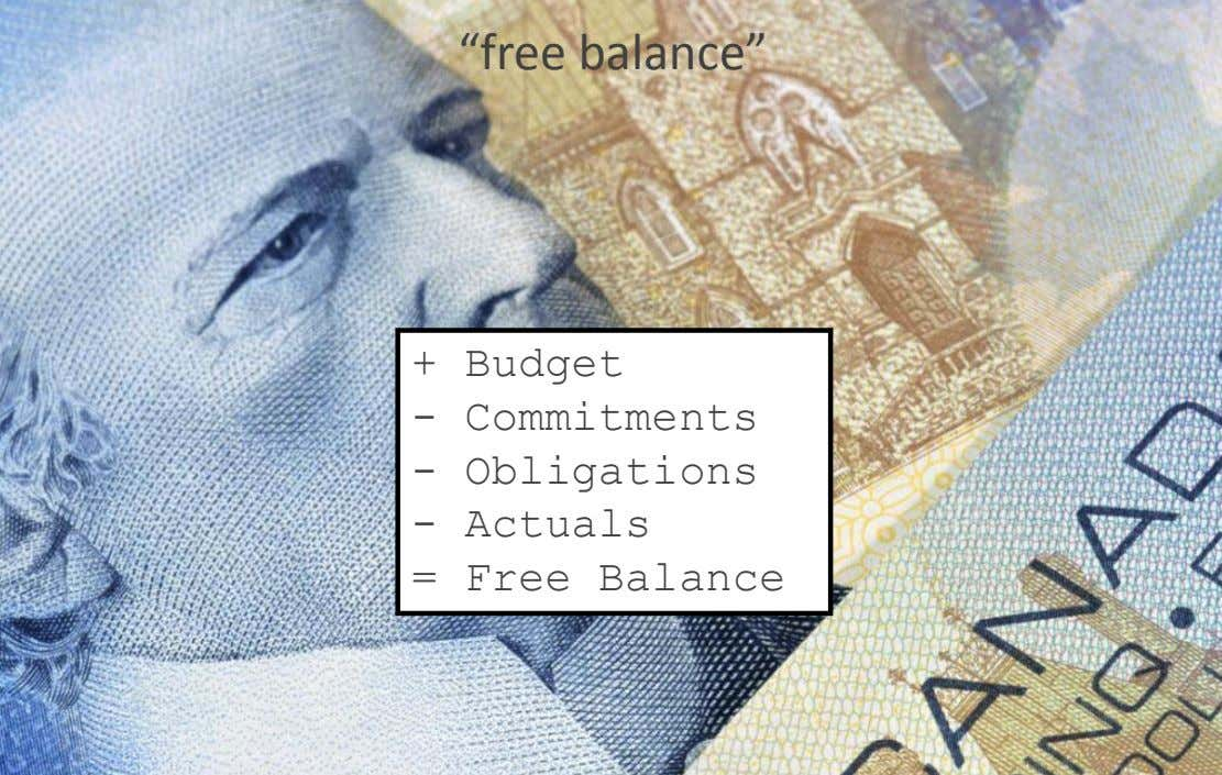"Version 7 section ""free balance"" • brief discussion + Budget - Commitments - Obligations -"