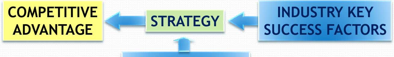 COMPETITIVE STRATEGY ADVANTAGE INDUSTRY KEY SUCCESS FACTORS