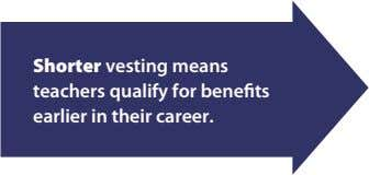 Shorter Decreasing vesting vesting means teachers makes it qualify easier for for benefits earlier early-career
