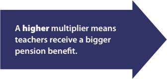 A higher multiplier means teachers receive a bigger pension benefit.