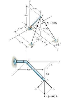 Applications For this geometry, can you determine angles between the pole and the cables? For force