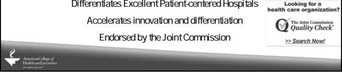 Accelerates innovation and differentiation Endorsed by the Joint Commission