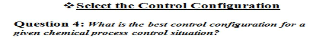 Design Elements of a Control System General Control Configurations Feedback control configuration Feedforward control configuration 6.
