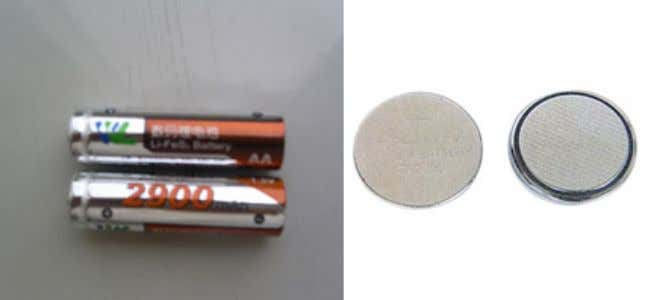 as watches, calculators, cameras, temperature data loggers; Figure 1 - Example of Lithium Metal Batteries Lithium-ion