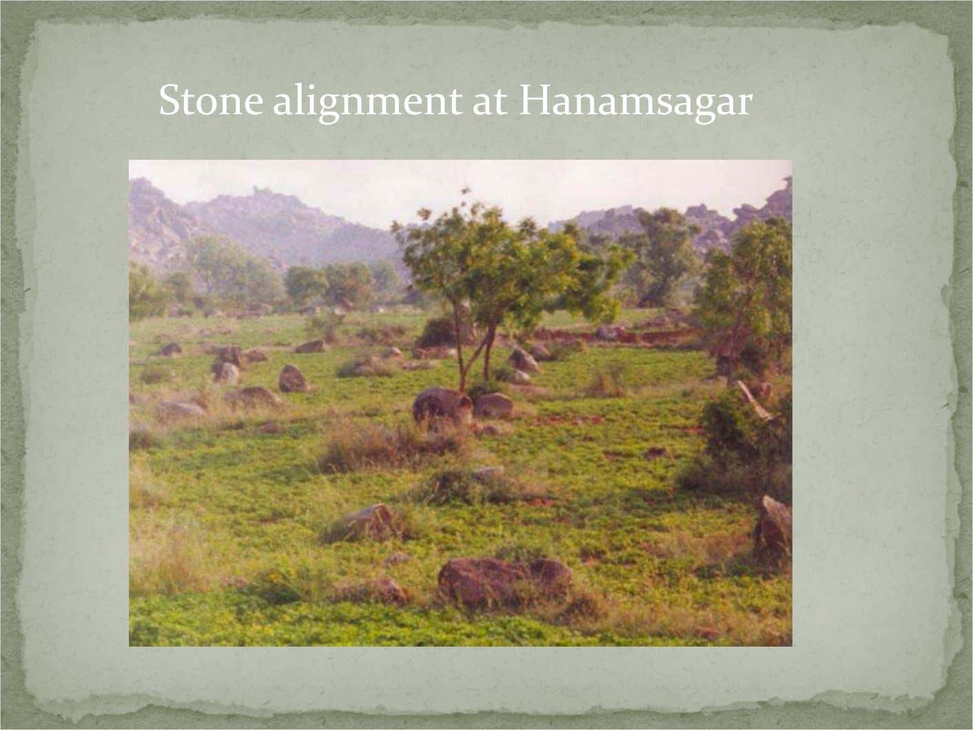 Stone alignment at Hanamsagar
