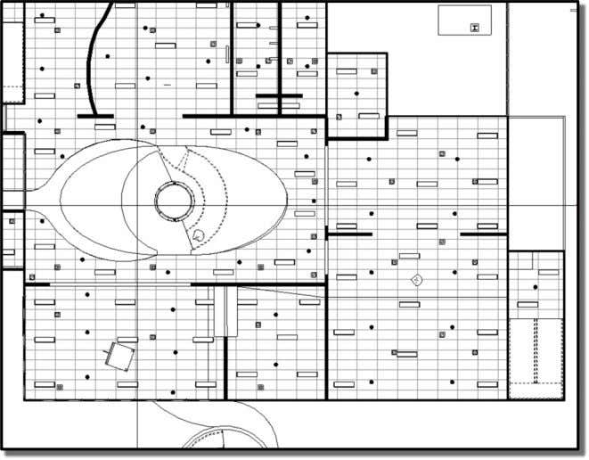 First Floor Reflected Ceiling Plan: South Side of Power Plant Building First Floor Reflected Ceiling Plan:
