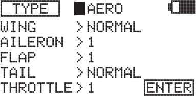 >AERO. 2) Press the YES/+ or NO/- keys to change the selection option. Choose from AERO,