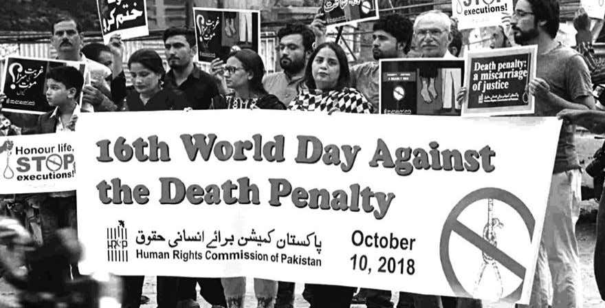 fatalities inviting death sentences for the perpetrators. HRCP holds a rally against the death penalty The