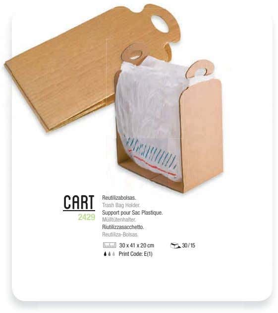 Cart Reutilizabolsas. Trash Bag Holder. Support pour Sac Plastique. 2429 Mülltütenhalter. Riutilizzasacchetto.