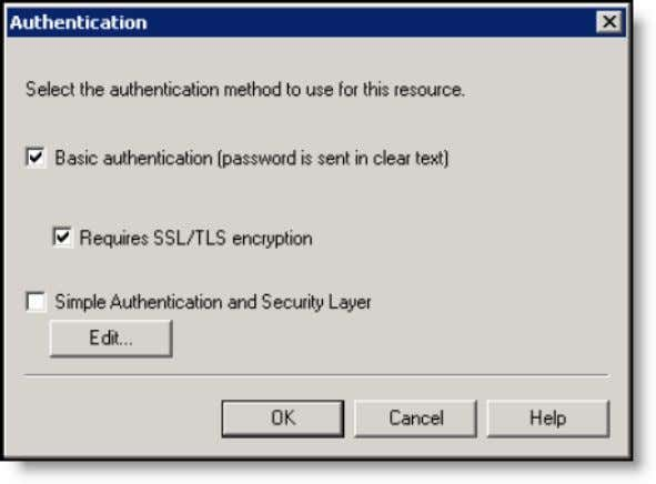 appears ( Figure 14 ). Figure 14. Authentication window 7. Configure the window as shown in