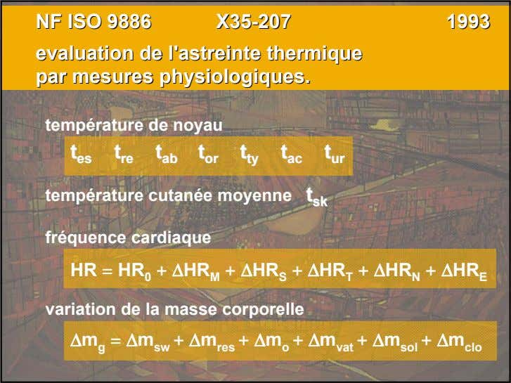 NFNF ISOISO 98869886 X35X35--207207 19931993 evaluationevaluation dede l'astreintel'astreinte