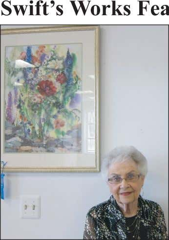 Gallery 23 watercolor artist Jan Swift will have her work featured at PNC Bank, located
