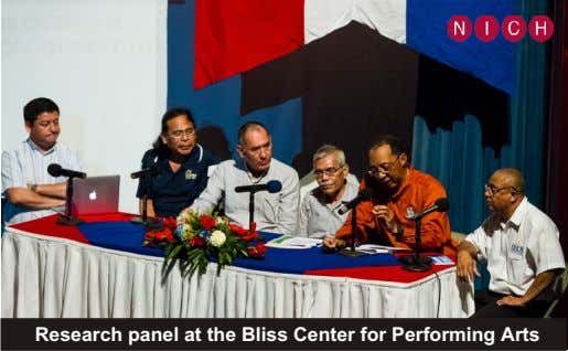 Research panel at the Bliss Center for Performing Arts