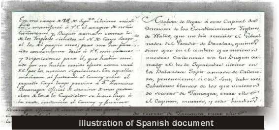 Illustration of Spanish document