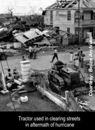 Tractor used in clearing streets in aftermath of hurricane Courtesy: Belize Archives