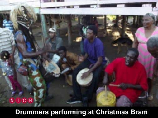 Drummers performing at Christmas Bram